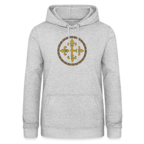 croce celtica oro - Felpa con cappuccio da donna