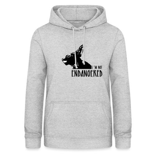 Endangered - Sudadera con capucha para mujer