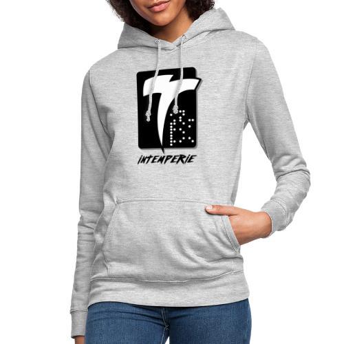 intemperie logo final fondo blanco - Sudadera con capucha para mujer