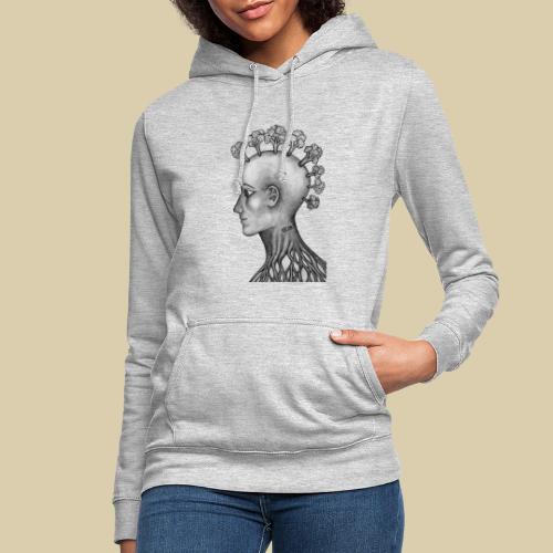 mujer brócoli - Sudadera con capucha para mujer