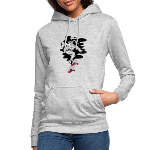 skate on the moon - Sudadera con capucha para mujer