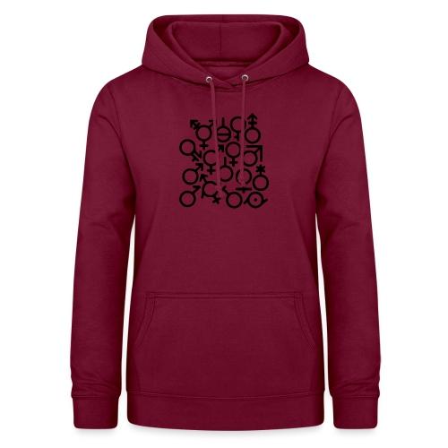 Multi Gender B/W - Vrouwen hoodie