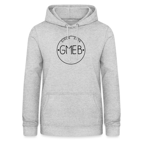 doorschijnend logo ZWART - Vrouwen hoodie