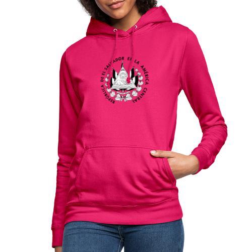 escudo de El Salvador - Sudadera con capucha para mujer