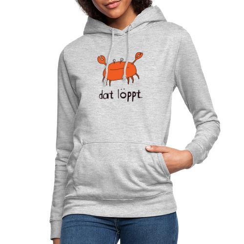 Ostfriesland FUN Shirt - Dat Löppt Strandkrabbe - Frauen Hoodie