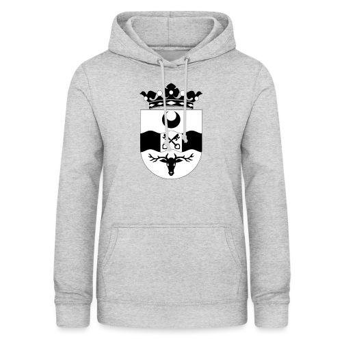 Leidschendam oude wapen zwart wit - Vrouwen hoodie