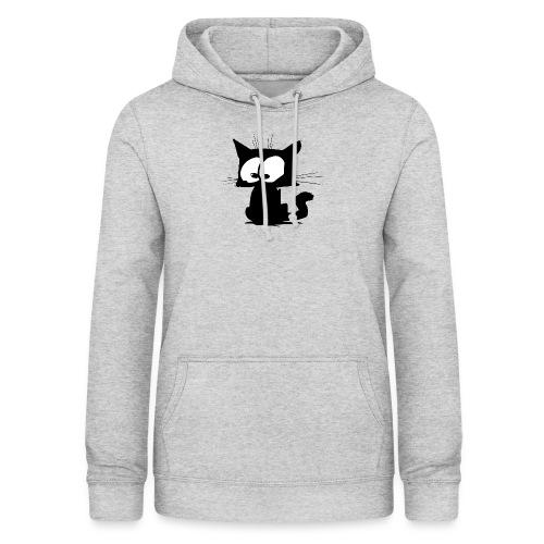 Black Cat 01 - Sweat à capuche Femme