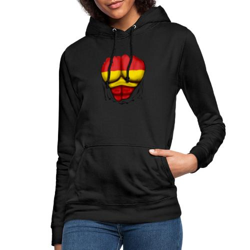 España Flag Ripped Muscles six pack chest t-shirt - Women's Hoodie