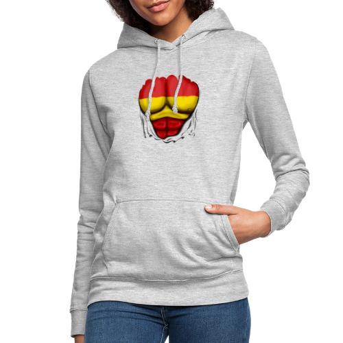 España Flag Ripped Muscles six pack chest t-shirt - Women's Hoodie