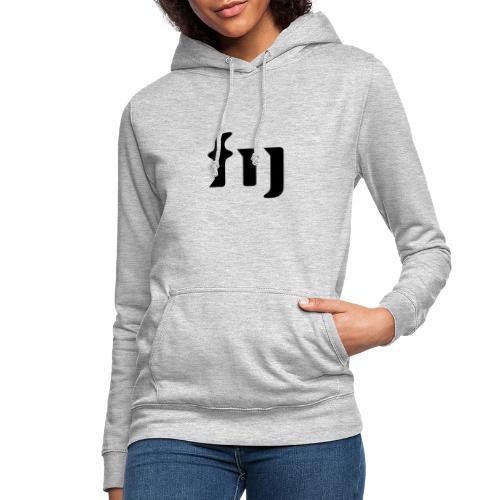 FIJ logo (svart) - Luvtröja dam