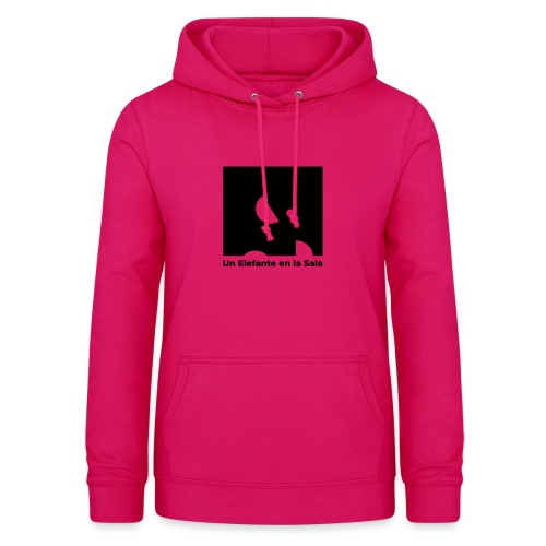 Logo Elefante Negro - Sudadera con capucha para mujer