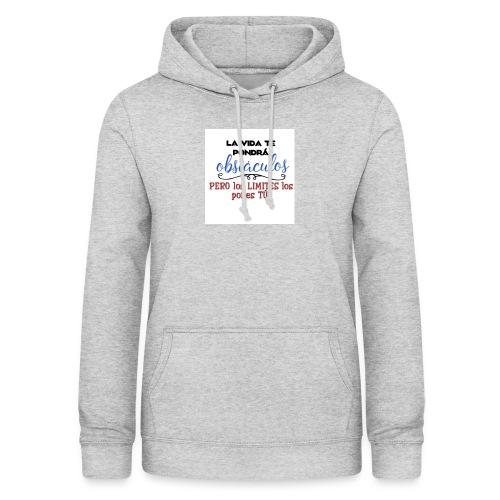 Frase motivadora - Sudadera con capucha para mujer