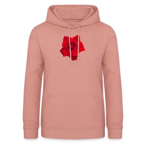 Red Roses - Bluza damska z kapturem