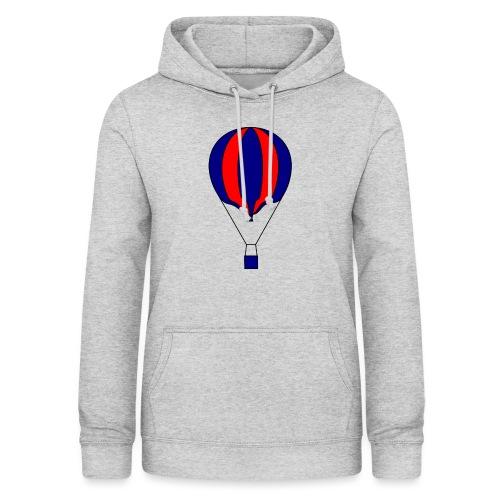 Gasballon blau rot gestreift unprall - Frauen Hoodie