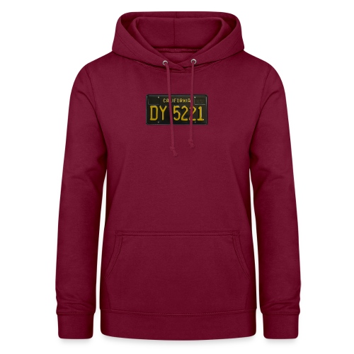 CALIFORNIA BLACK LICENCE PLATE - Women's Hoodie