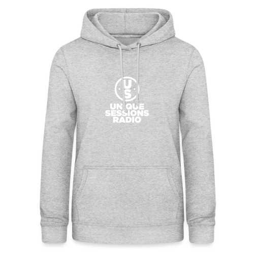 Unique Sessions Radio Monochrome White - Women's Hoodie