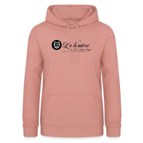 La Tanière des Chiens-Loups(logo plus grand) - Sweat à capuche Femme