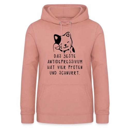 Katzen sind das beste Antidepressivum - Frauen Hoodie