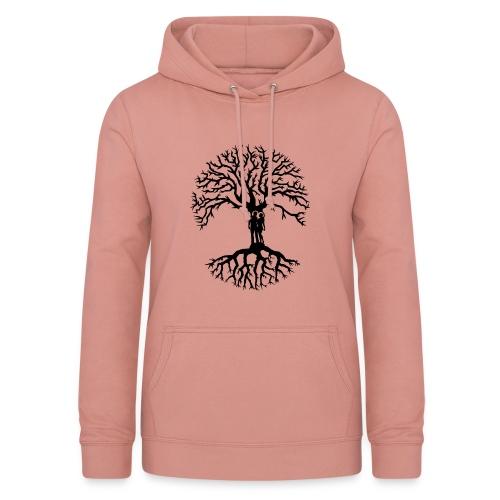 couple arbre de vie zen amour Tree of life noir - Sweat à capuche Femme