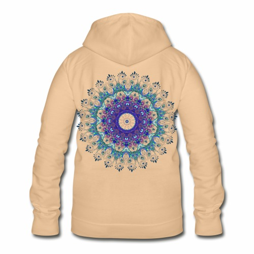 Mørk lilla mandala - Dame hoodie