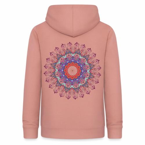 Orange mandala - Dame hoodie