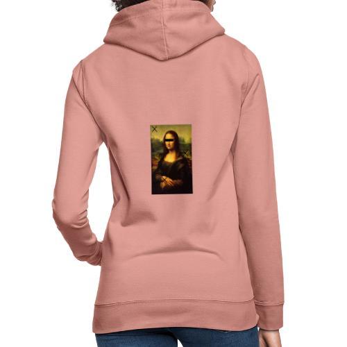XMona LisaX - Sudadera con capucha para mujer