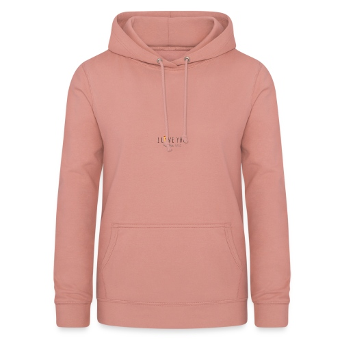 I love you more than pizza :3 - Women's Hoodie