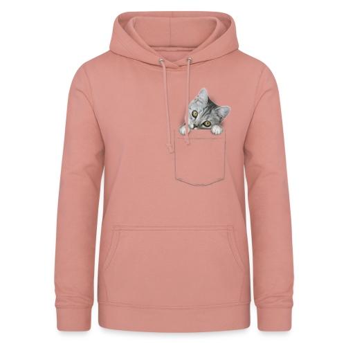 Vorschau: cat pocket - Frauen Hoodie