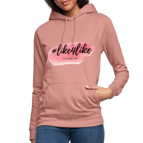 Hashtag like4like Rosa - Frauen Hoodie