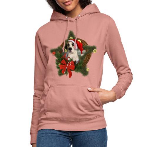 Christmas Dog - Felpa con cappuccio da donna