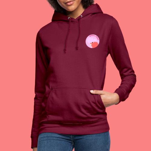 minimal world logo - Felpa con cappuccio da donna