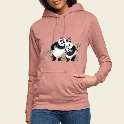 Pandafamilie Baby - Frauen Hoodie