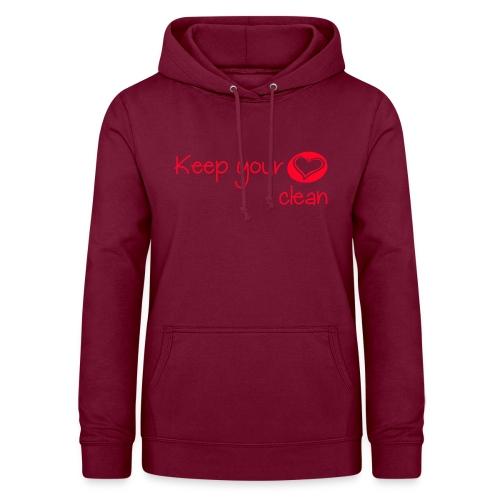 keep your heart clean - Sweat à capuche Femme