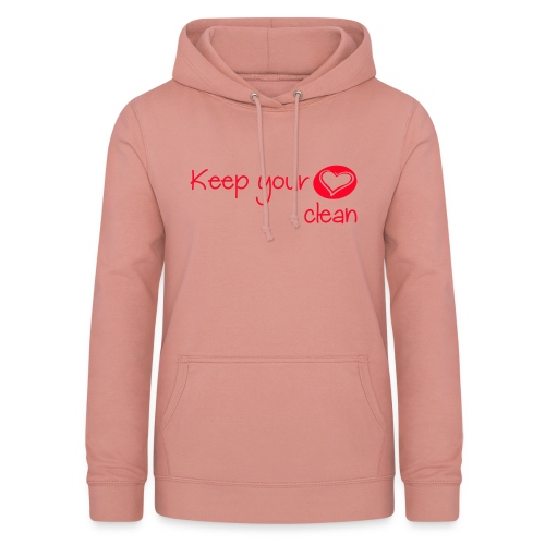keep your heart clean - Sweat à capuche Femme