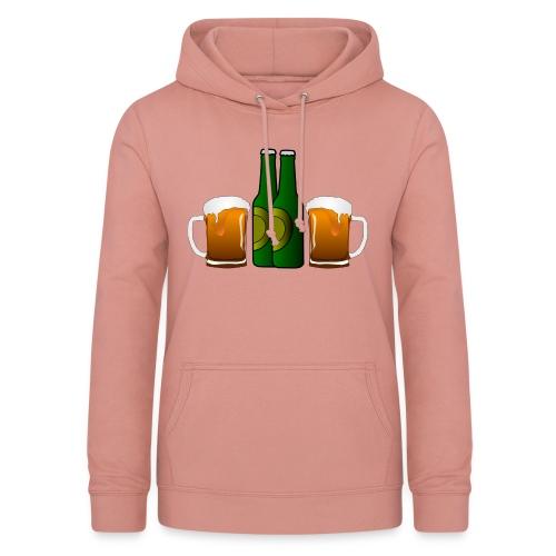 Birre in bottiglia - Felpa con cappuccio da donna