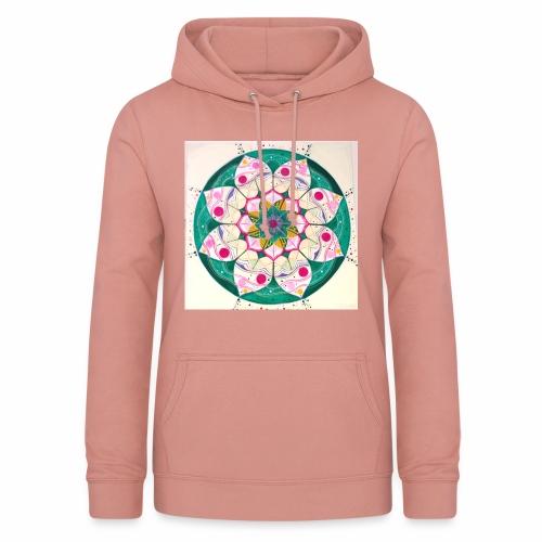 mandala rosa - Sudadera con capucha para mujer