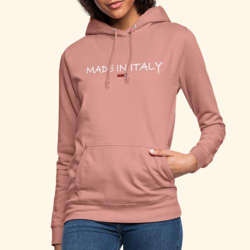 nmk made in italy - Felpa con cappuccio da donna