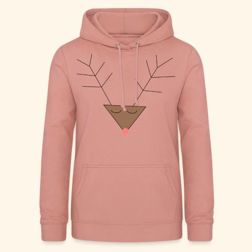 Pink nose reindeer - Sweat à capuche Femme