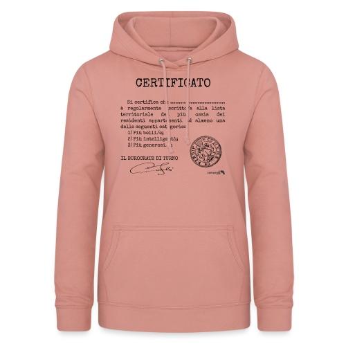 1.07 Certificato Piu Generico (Aggiungi nome) - Felpa con cappuccio da donna