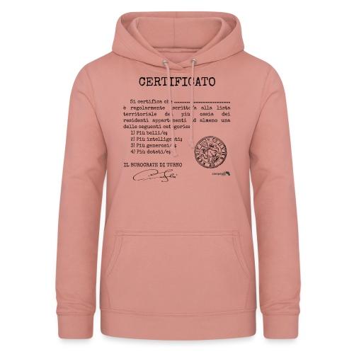 1.07 Certificato Piu Adulti (Aggiungi nome) - Felpa con cappuccio da donna