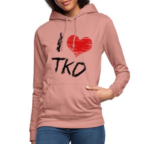 I love tkd letras negras - Sudadera con capucha para mujer