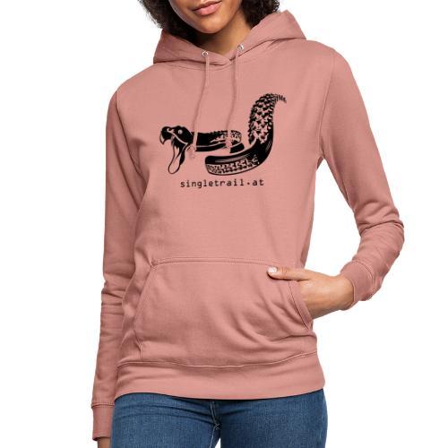Die Singletrail Snake mit dezenter Web Adresse - Frauen Hoodie