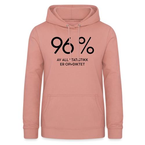 Statistikk-sprøyt (fra Det norske plagg) - Hettegenser for kvinner