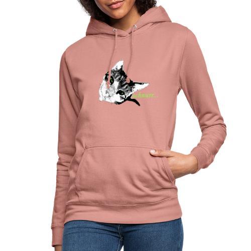 Katze schnurr - Frauen Hoodie