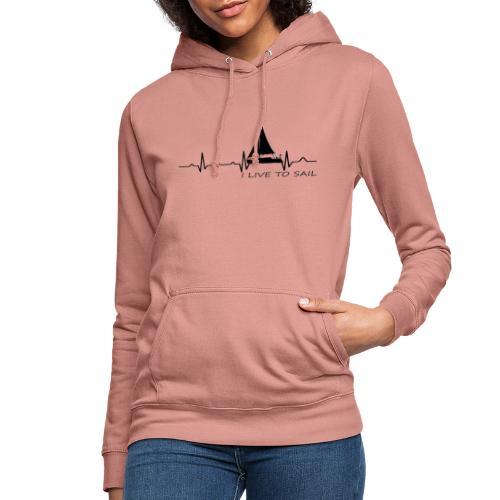 sailboat heart military dna - Felpa con cappuccio da donna