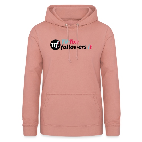 ttfollowers logo - Felpa con cappuccio da donna