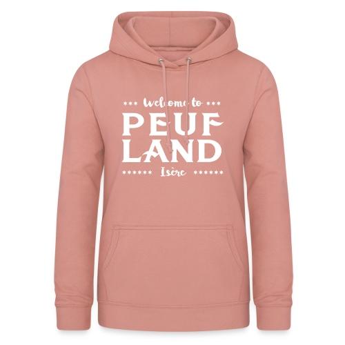 Peuf Land 38 - Isère - White - Sweat à capuche Femme