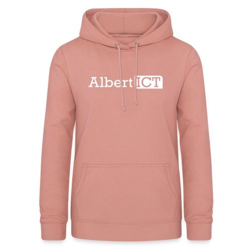 AlbertICT wit logo - Vrouwen hoodie
