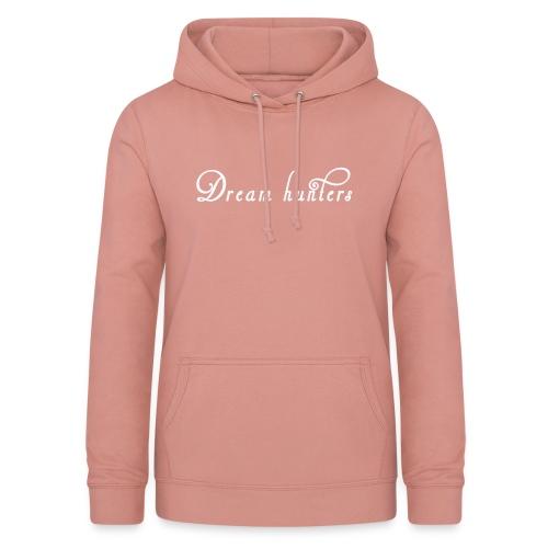 Logo DH bianco sfondo trasp - Felpa con cappuccio da donna