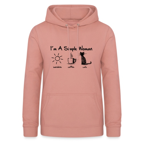 Vorschau: simple woman cats - Frauen Hoodie